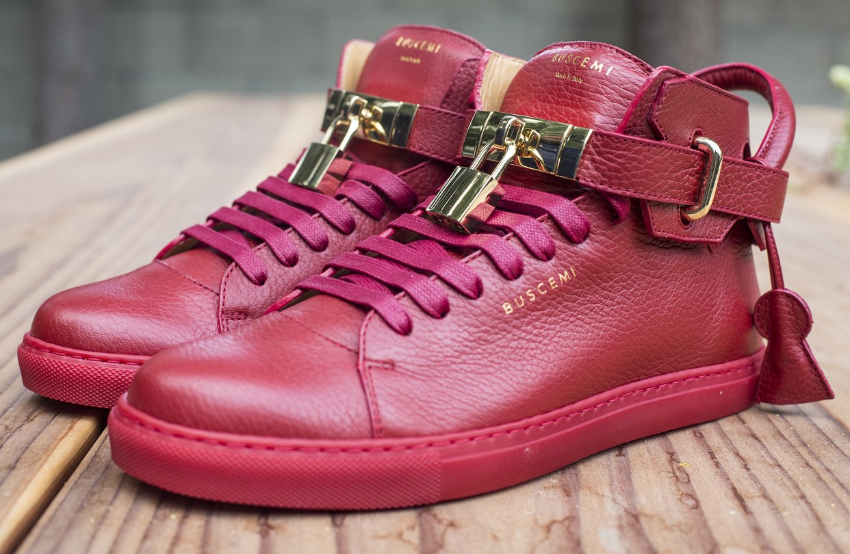 Buscemi Red High Top Sneakers